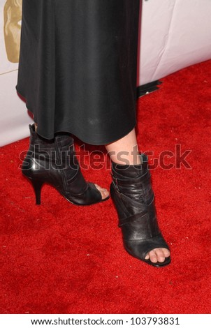 Michelle Forbes's shoes  at the 7th Annual BAFTA-LA TV Tea Party. Intercontinental Hotel, Century City, CA. 09-19-09