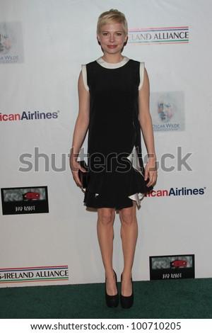 Michelle Williams at US Ireland Alliance Oscar Wilde Honors, Bad Robot, Santa Monica, CA 02-23-12 - stock photo
