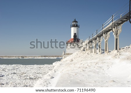 Michigan City Lighthouse - stock photo