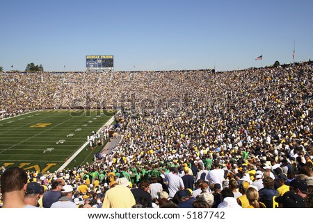 Michigan football stadium packed with fans