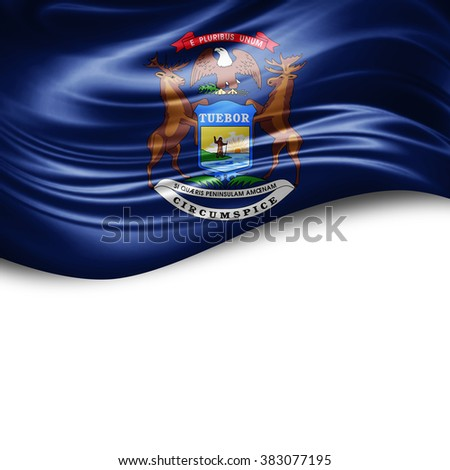 Michigan of silk with copyspace for your text or images and white background - stock photo