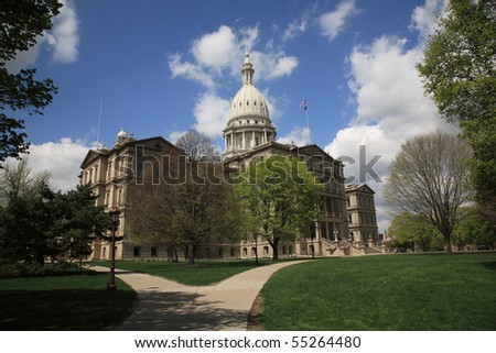 Michigan State Capitol Building - stock photo