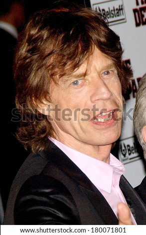 Mick Jagger at THE DEPARTED Premiere, Ziegfeld Theatre, New York, NY, September 26, 2006 - stock photo