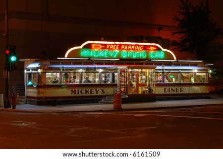 Mickey's Diner - stock photo