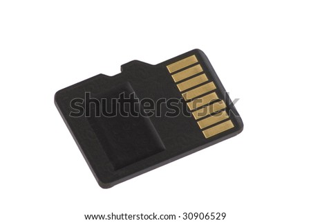 Micro SD card isolated - stock photo