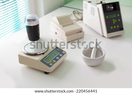Microbiological testing for food quality at biochemistry laboratory - stock photo