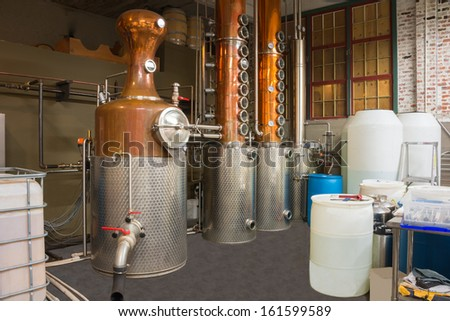 Microbrewery Distillery Still  - stock photo