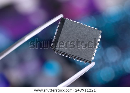 microchip - stock photo