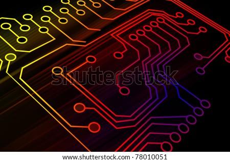 Microchip background - stock photo