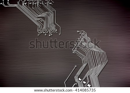 Microchip background close-up of electronic circuit board with processor