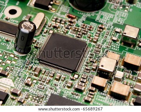 Microchip on a circuit board