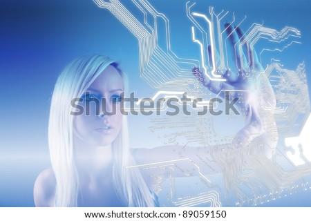 Microchip - Technology Concept - stock photo