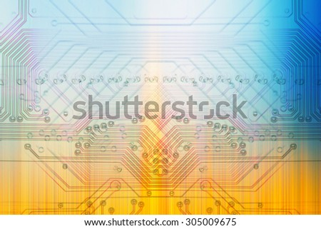 Microelectronics, white background chips concept - stock photo