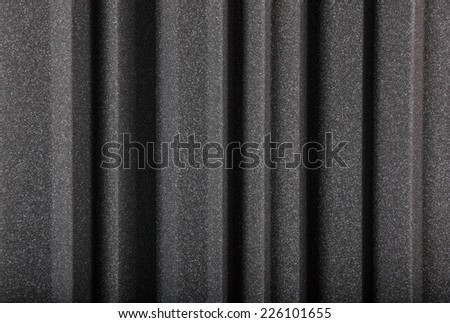 microfiber insulation for noise in music studio or acoustic halls , studio insulation material , noise isolation , noise isolating protective and shock absorber foam wall , background of acoustic - stock photo