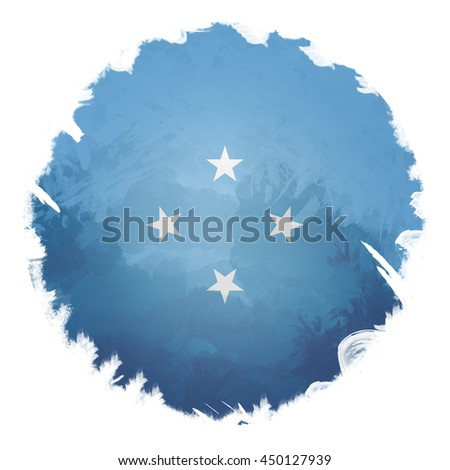 Micronesia flag, digital art effect. - stock photo
