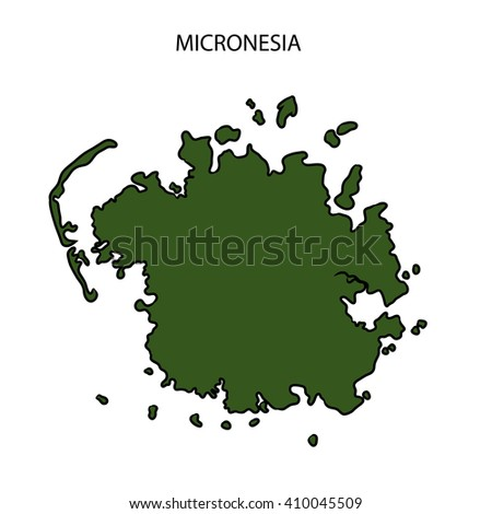 Micronesia Map - stock photo
