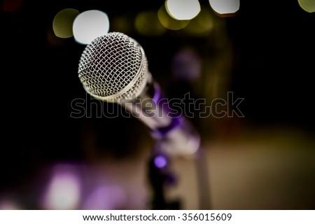 Microphone.  - stock photo