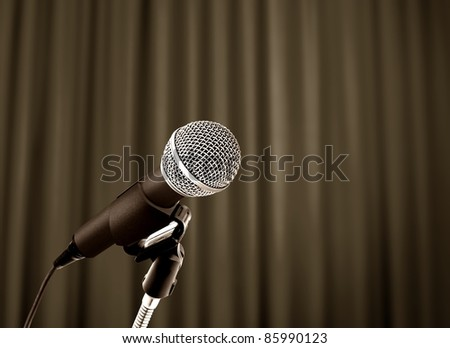 Microphone behind the curtain
