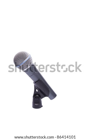 microphone cable holder on a white background - stock photo