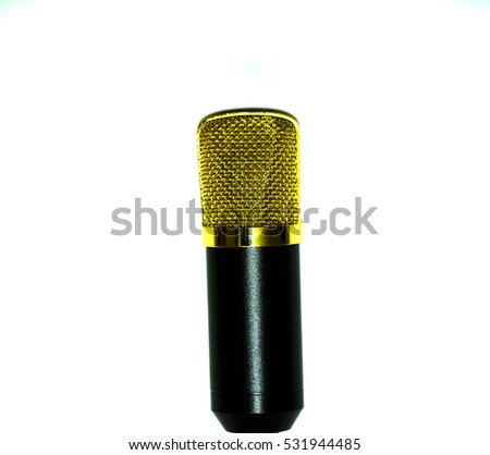 microphone condenser isolated on white background
