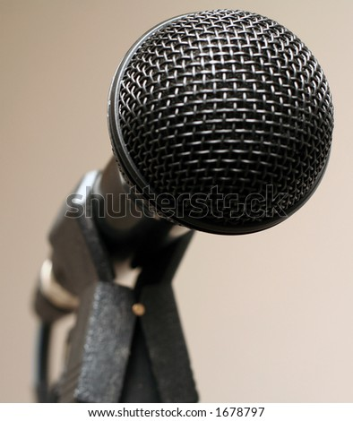 Microphone facing observer