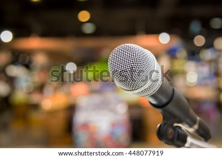 Microphone for concert outdoor event