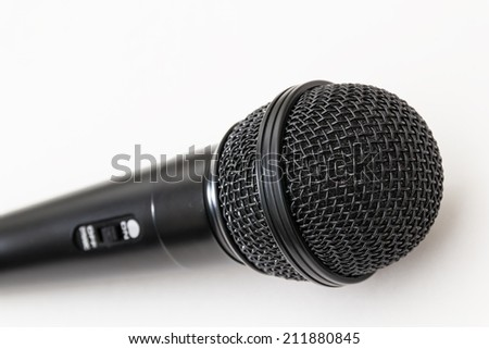 Microphone for Karaoke. - stock photo