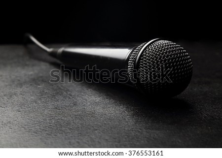 microphone for karaoke - stock photo