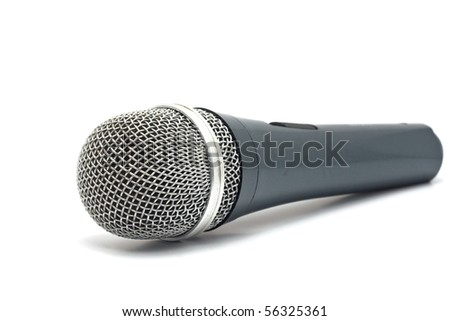 microphone for karaoke isolated on a white background
