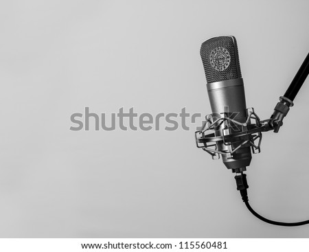 Microphone for singer - stock photo