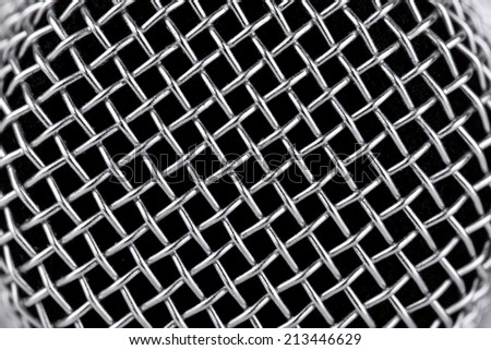 Microphone grill background, macro  - stock photo