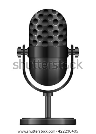 microphone icon illustration. - stock photo