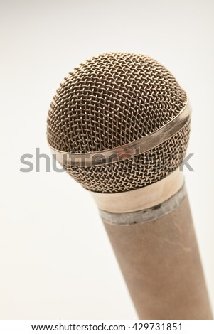 Microphone in a man's hand