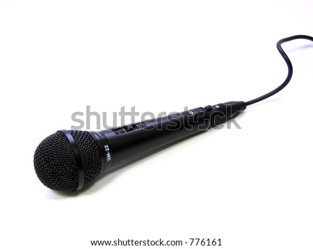 microphone in black - stock photo