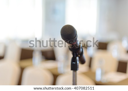 microphone in empty conference room