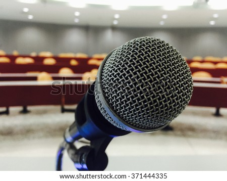 Microphone in the center of seminar room