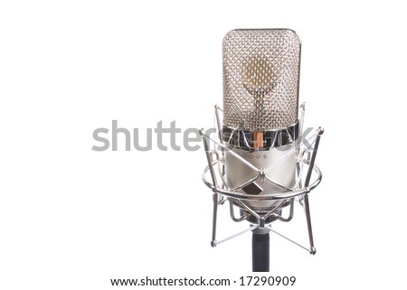 Microphone in vintage style - stock photo