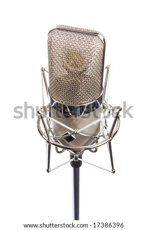 Microphone in vintage style, vertical composition - stock photo