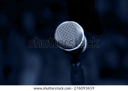 Microphone isolated for live show