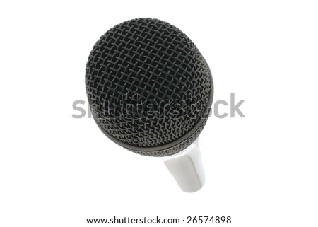 Microphone isolated not a white background