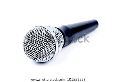 microphone isolated on a white background