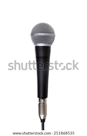 microphone isolated on a white background music concept - stock photo