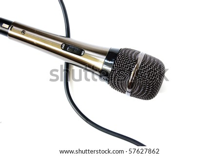 Microphone isolated on the white background - stock photo