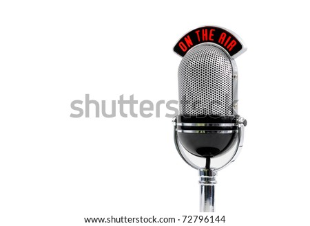 microphone isolated on white background - stock photo