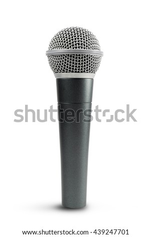 Microphone isolated on white background. file contains a clipping path. - stock photo