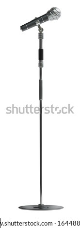 Microphone isolated on white background High resolution 3d  - stock photo