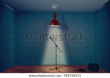 Microphone on a empty room