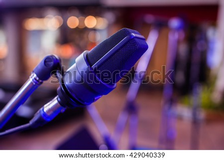 Microphone on an event - stock photo