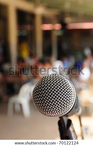 microphone on party - stock photo