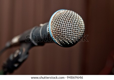 microphone on stage close up